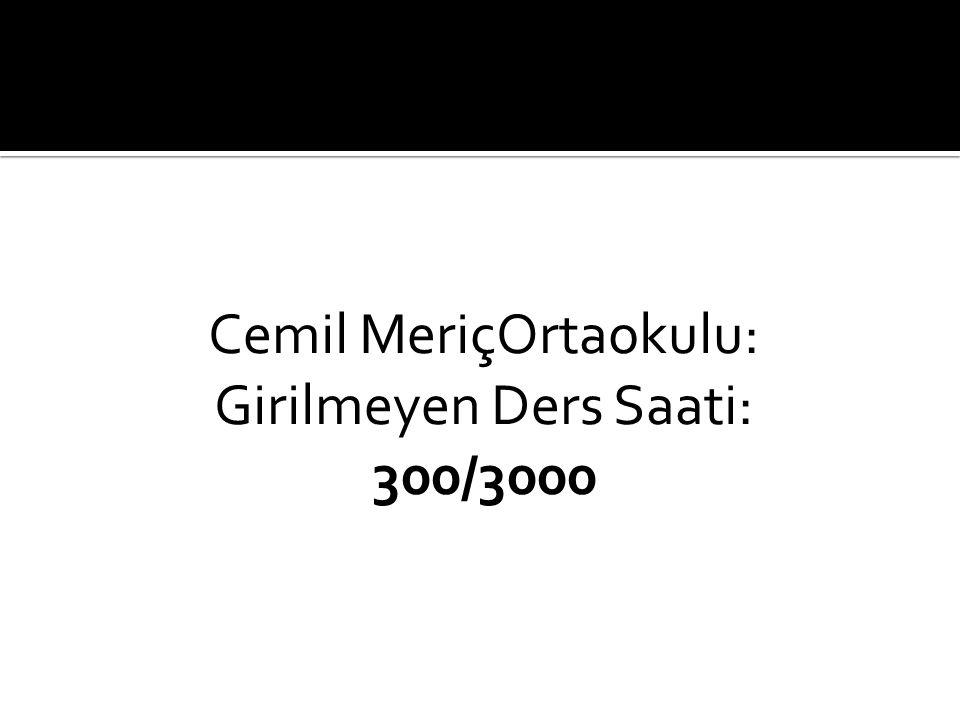 Cemile Çopuroğlu Ortaokulu Girilmeyen Ders Saati: 204/1494