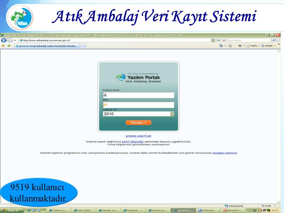 Atık Ambalaj Veri Kayıt Sistemi 9519 kullanıcı kullanmaktadır.