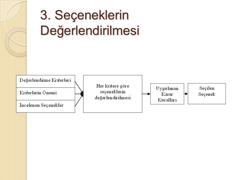 3. Seçeneklerin Değerlendirilmesi