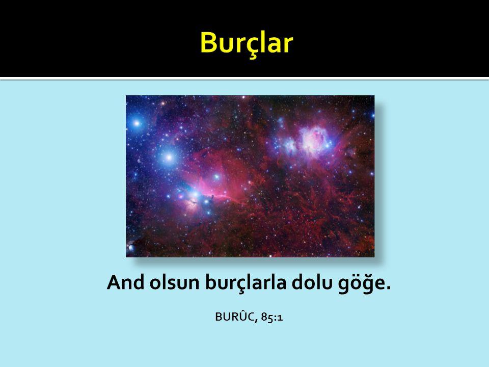 And olsun burçlarla dolu göğe. BURÛC, 85:1