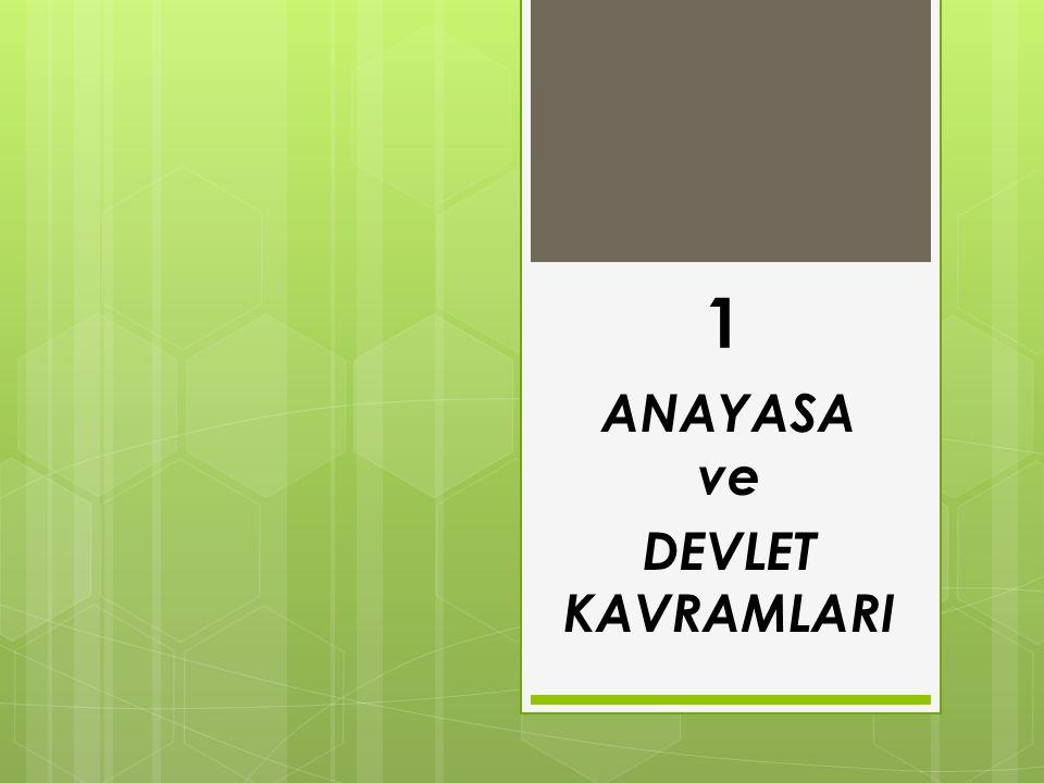 1 ANAYASA ve DEVLET KAVRAMLARI