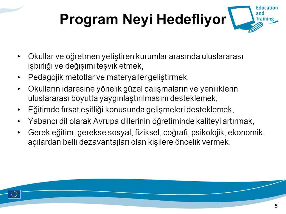 Programdan Kimler Yararlanabilir Program, en genel anlamıyla, okul eğitimine taraf olan kurum ve kuruluşlar ile bu kurumlardaki idareciler, eğitimciler ve öğrencileri kapsar.