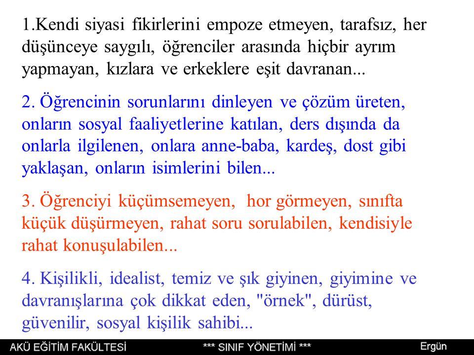 """Mustafa ERGÜN, Tayyip DUMAN, Remzi Y.KINCAL, Sebahattin ARIBAŞ. """"İDEAL BİR ÖĞRETİM ELEMANININ ÖZELLİKLERİ"""" AKÜ Sosyal Bilimler Dergisi. 3,1999. 1-19."""