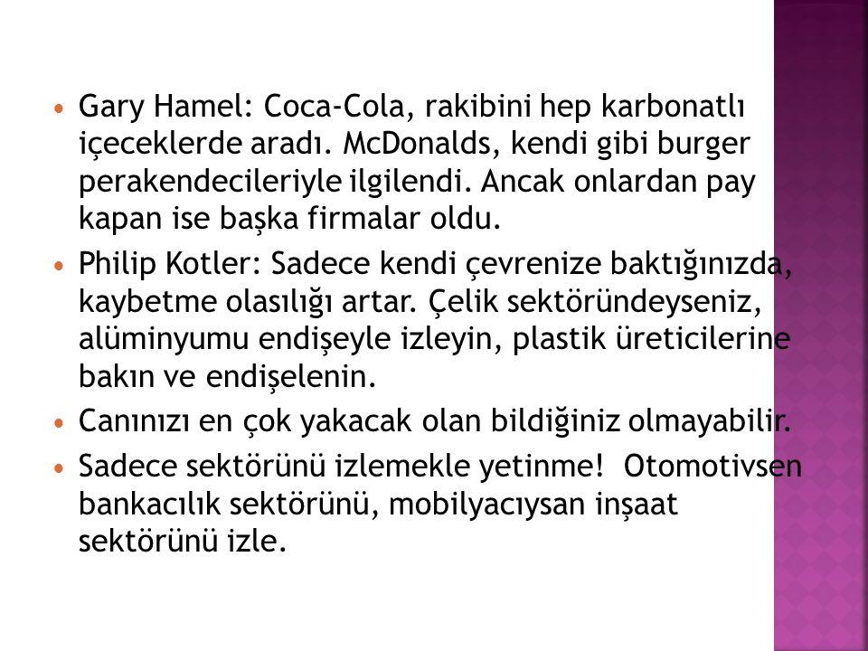 Gary Hamel: Coca-Cola, rakibini hep karbonatlı içeceklerde aradı.