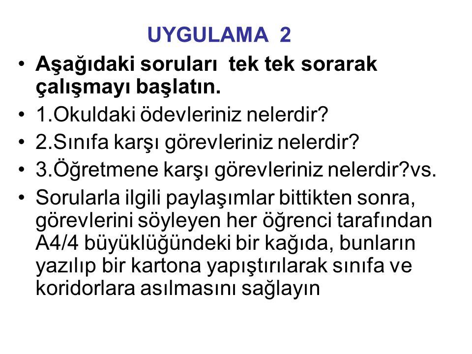 UYGULAMA 3 a.