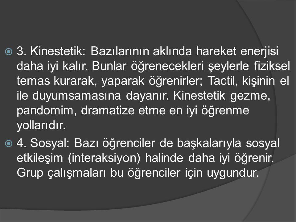 Kaynakça  Boydak,A.(2001). Öğrenme stilleri. İstanbul : Beyaz  Koç, D.E.K.