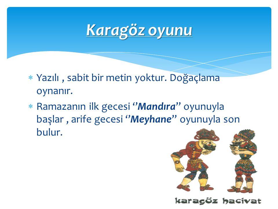 Karagöz ustasından Karagöz ustasından ;