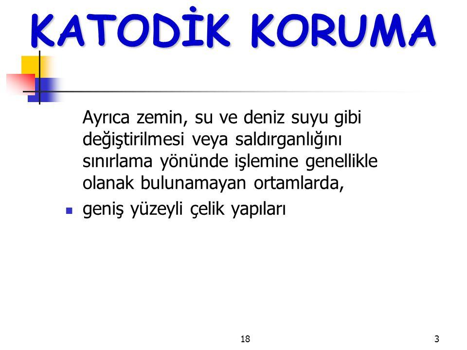 1814 KATODİK KORUMA Tablo 5.