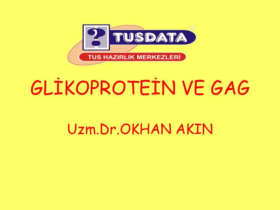Dermatan sülfat: Disakkarid ünitesi: N-asetilgalaktozamin ve L- iduronik asit (değişik miktarlarda glukronik asidle beraber).