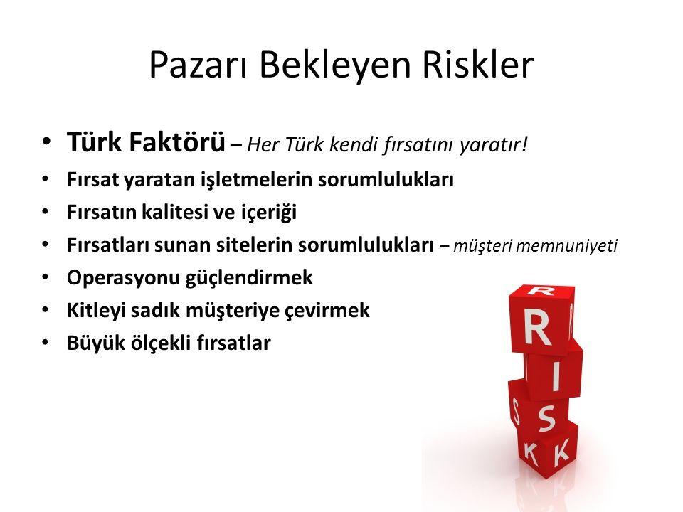 Pazarı Bekleyen Riskler Türk Faktörü – Her Türk kendi fırsatını yaratır.