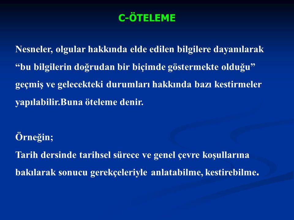 KAVRAMA ALANI; ÖRNEK Hedef : Osmanlı İmparatorluğu'nun Balkanlara yerleşme nedenlerinin kavram bilgisi.