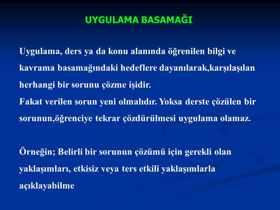 UYGULAMA ALANI; ÖRNEK Hedef : Türkiye Cumhuriyeti'nin kuruluş yıllarındaki ekonomik sorunların çözümünde temel ilkeleri kullanabilme.