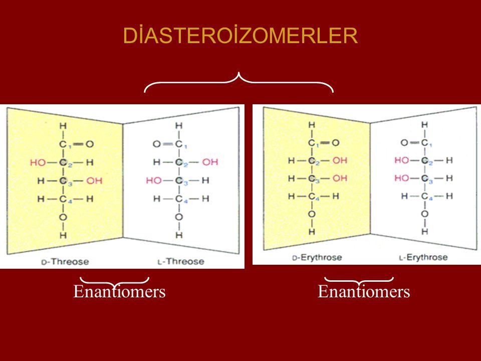 DİASTEROİZOMERLER Enantiomers