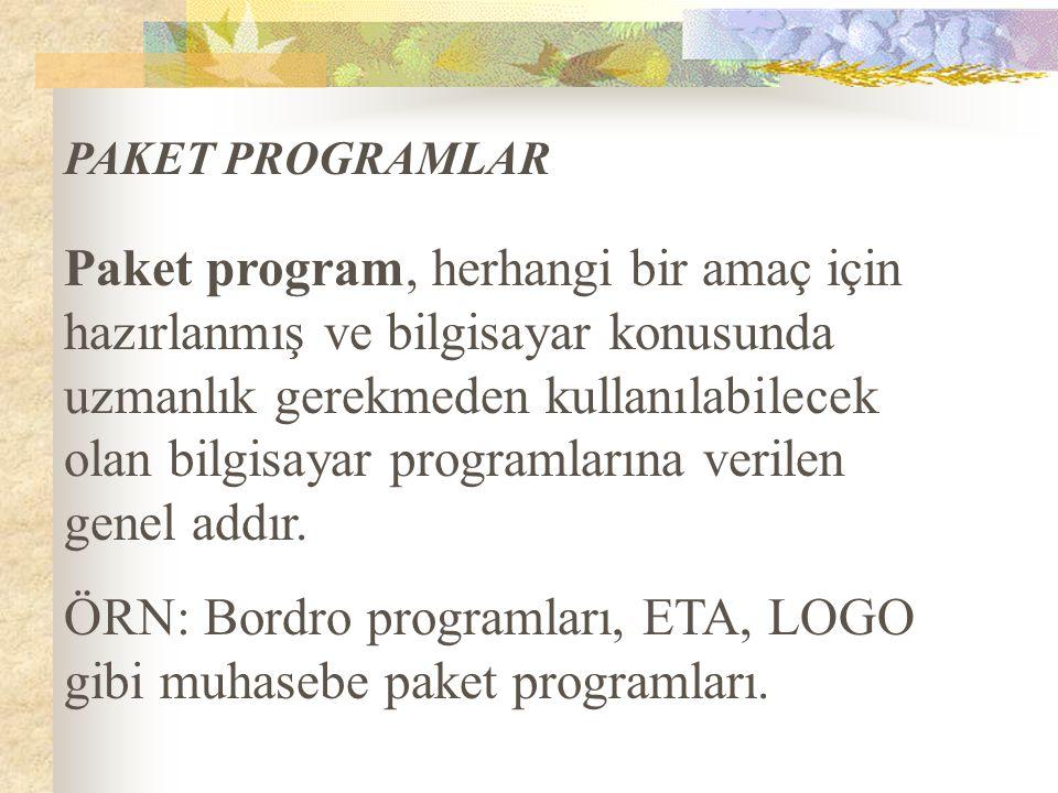Paket program, herhangi bir amaç için hazırlanmış ve bilgisayar konusunda uzmanlık gerekmeden kullanılabilecek olan bilgisayar programlarına verilen g