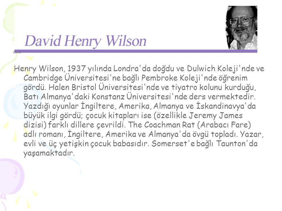 David Henry Wilson, 1937 yılında Londra da doğdu ve Dulwich Koleji nde ve Cambridge Üniversitesi ne bağlı Pembroke Koleji nde öğrenim gördü.