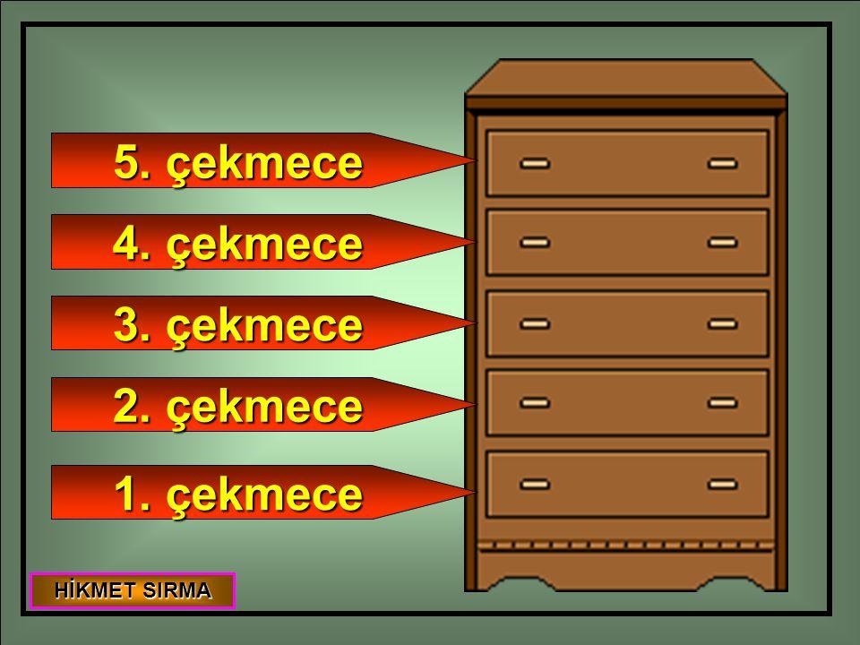 1. çekmece 2. çekmece 3. çekmece 4. çekmece 5. çekmece HİKMET SIRMA