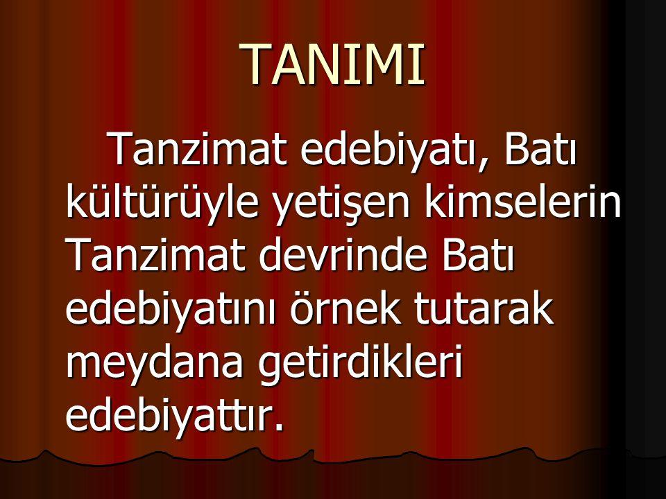Tanzimat edebiyatında yenilik,biri mevcut türlerde yenilik,öteki de Türkçe'de bulunmayıp Batı eserleri örnek tutularak yapılan yenilik diye iki bölümde görülebilir.