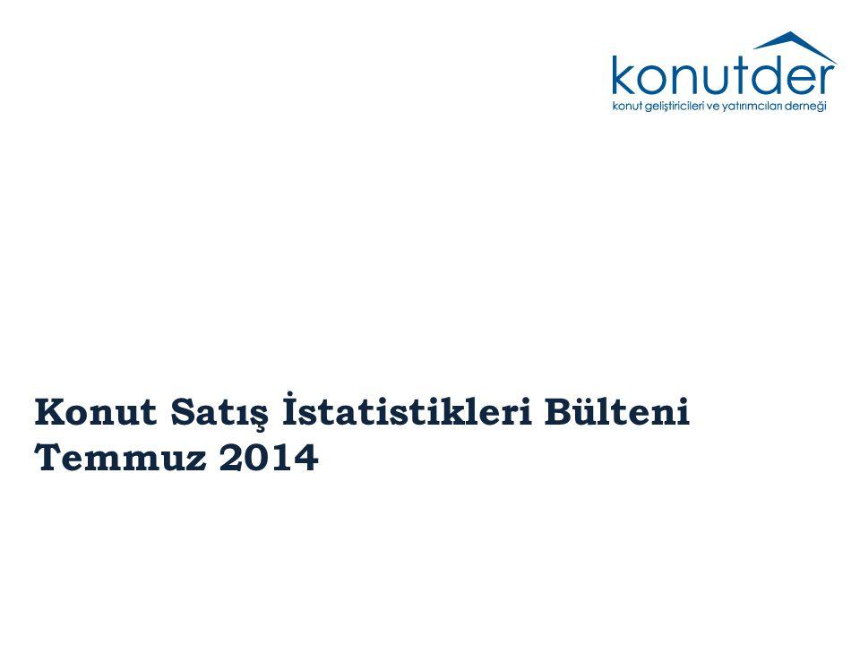 Konut Satış İstatistikleri Bülteni Temmuz 2014