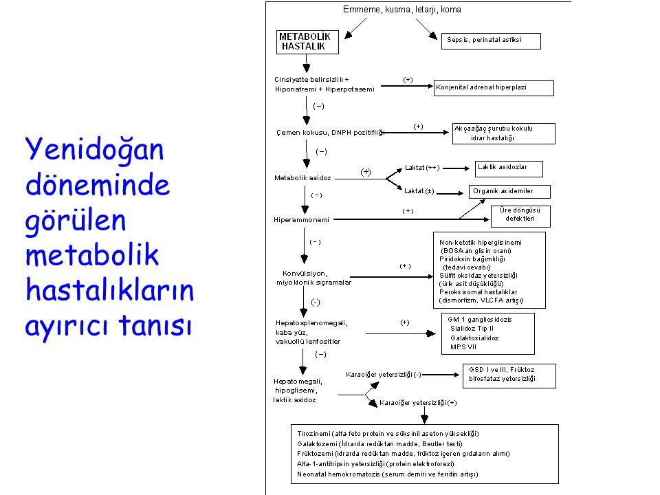 Yenidoğan döneminde görülen metabolik hastalıkların ayırıcı tanısı