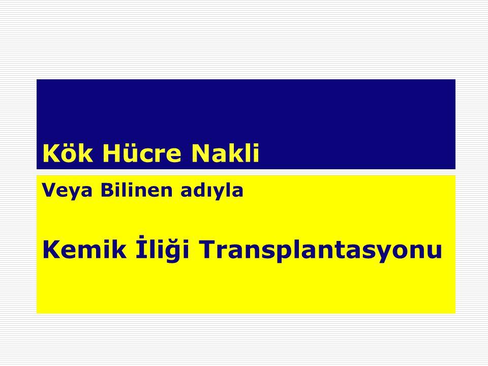 Kök Hücre Nakli Veya Bilinen adıyla Kemik İliği Transplantasyonu
