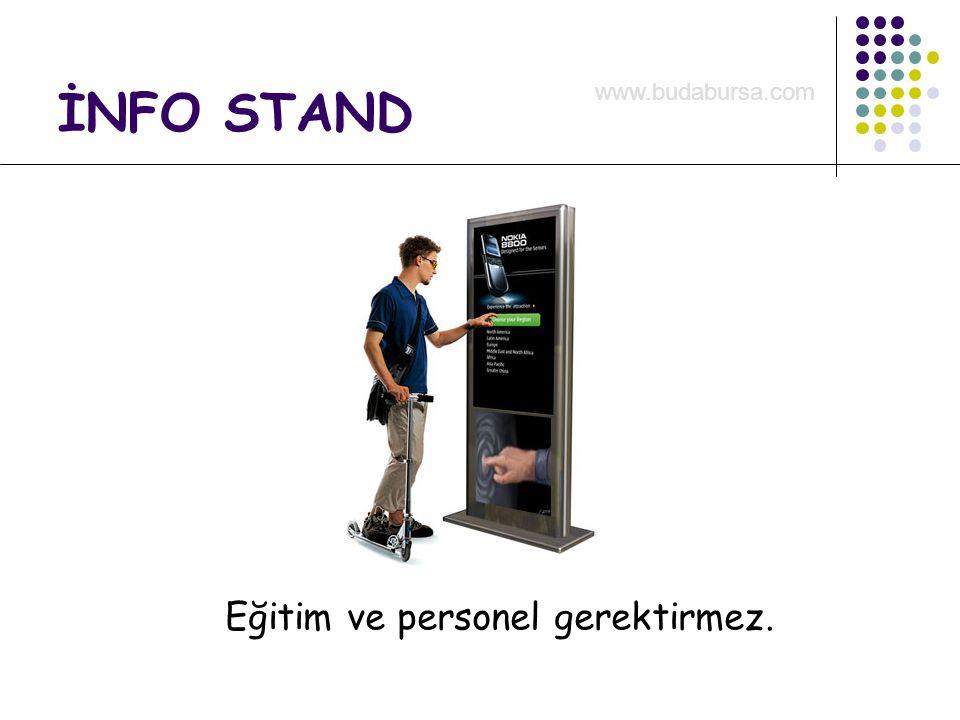 İNFO STAND Eğitim ve personel gerektirmez. www.budabursa.com