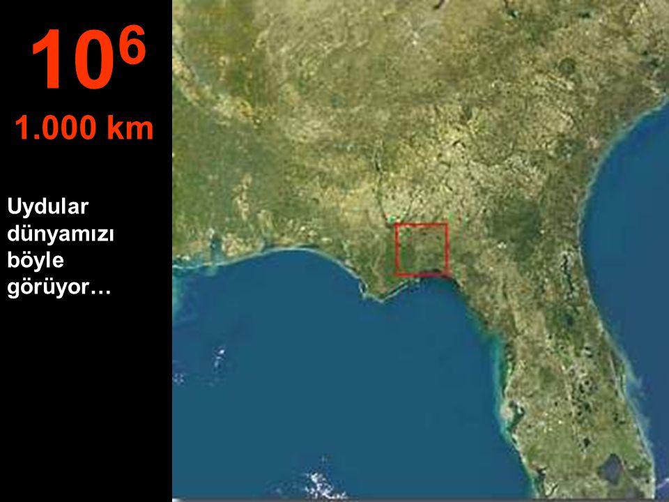 Bu yükseklikte, Flórida – ABD eyaleti görülebiliyor.. 10 5 100 km