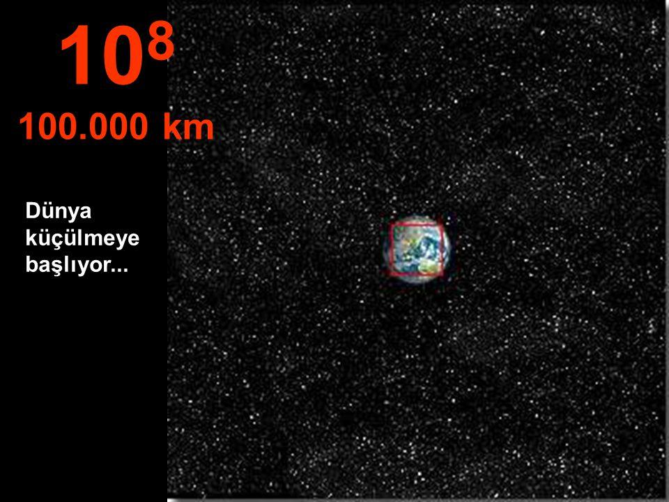 Kuzey Yarıküre, ve Güney Amerika'nın bir kısmı… 10 7 10.000 km