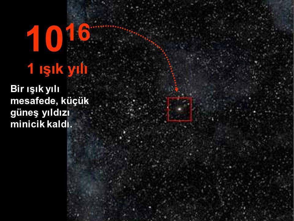 Şimdi güneş, binlerce yıldızın ortasında küçük bir yıldız... 10 15 1 trilyon km