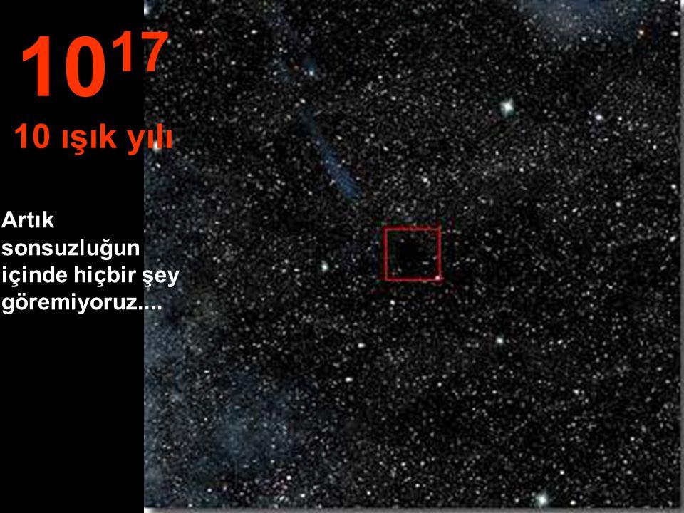 Bir ışık yılı mesafede, küçük güneş yıldızı minicik kaldı. 10 16 1 ışık yılı