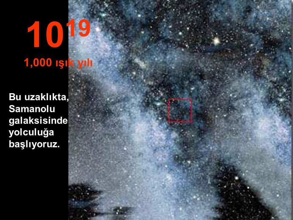"""""""Yıldızlar ve Nebula'dan başka hiçbir şey yok... 10 18 100 ışık yılı"""