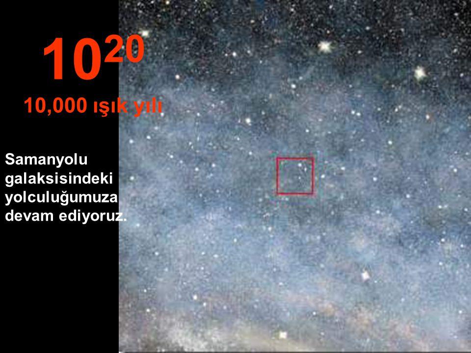 10 19 1,000 ışık yılı Bu uzaklıkta, Samanolu galaksisinde yolculuğa başlıyoruz.