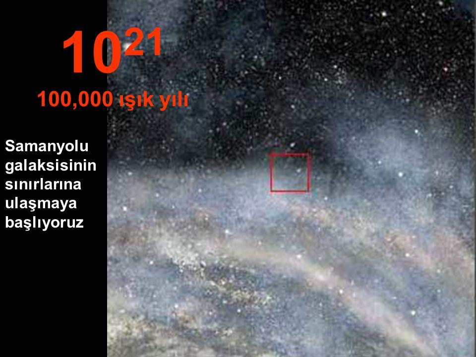 Samanyolu galaksisindeki yolculuğumuza devam ediyoruz. 10 20 10,000 ışık yılı