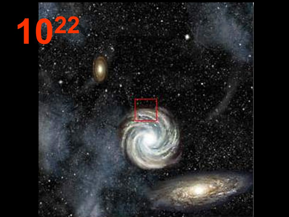 Bu uzaklıktan, tüm galaksiler küçücük ve birbirine yakın görünüyorlar. Aynı yasalar, uzaydaki tüm sistemler için geçerli. Hayal gücümüzle bu yolculuğa