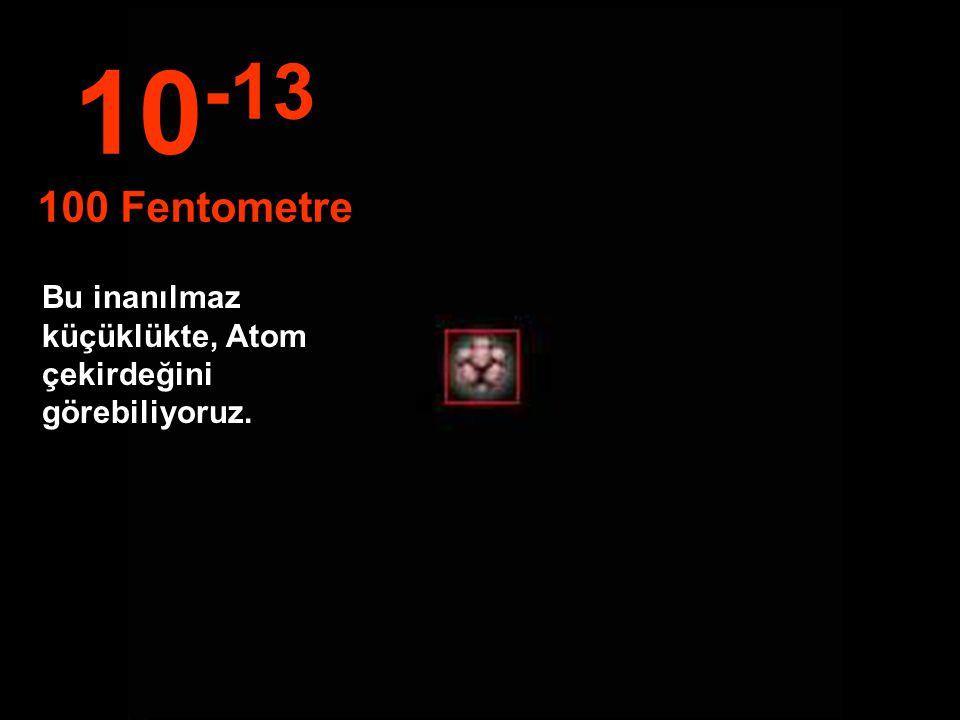 Atom çekirdeği ile elektron yörüngesi arasında muazzam bir boşluk vardır... 10 -12 1 Pikometre