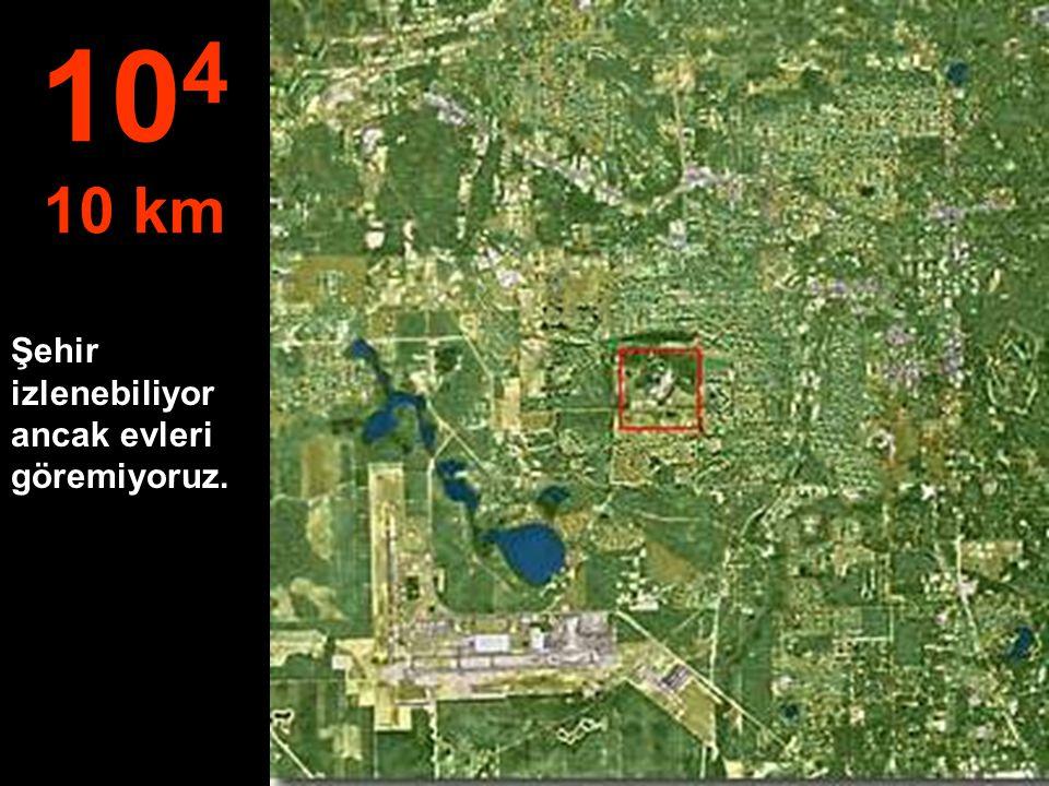 Metrelerden kilometrelere geçiyoruz.. Buradan paraşütle atlanabilir... 10 3 1 km