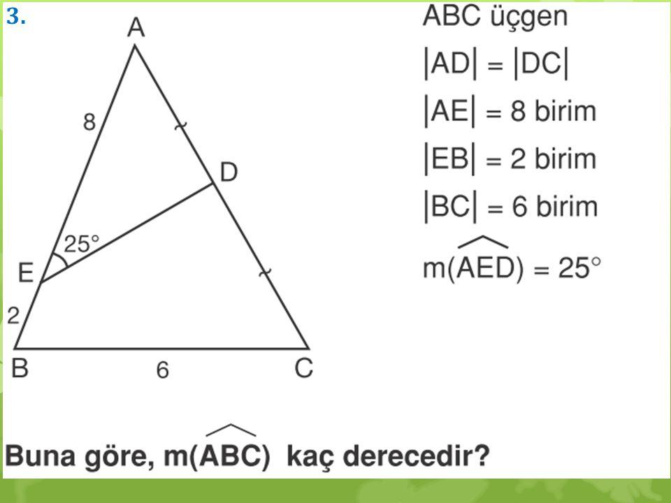 Dik üçgende Hipotenüse ait Kenarortayın uzunluğu, hipotenüsün yarısına eşittir.