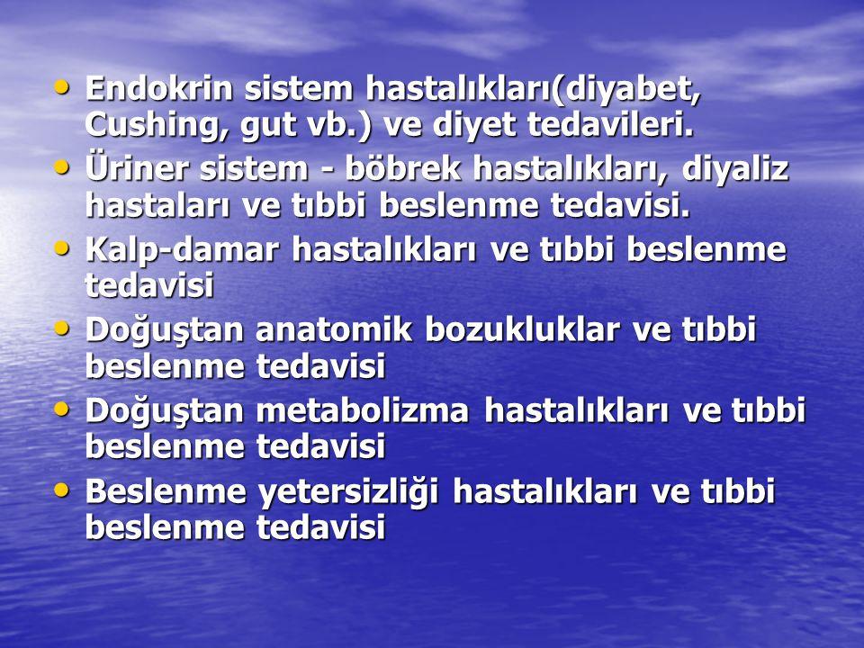Endokrin sistem hastalıkları(diyabet, Cushing, gut vb.) ve diyet tedavileri. Endokrin sistem hastalıkları(diyabet, Cushing, gut vb.) ve diyet tedavile