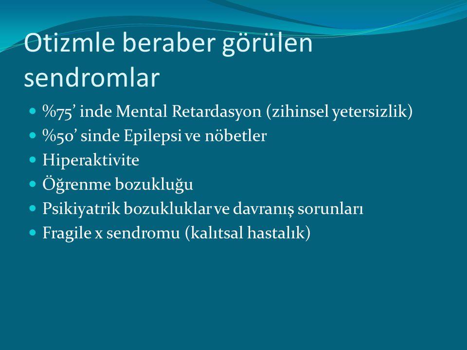 TERAPİ YÖNTEMLERİ 1.Duyusal bütünleştirme terapisi 2.