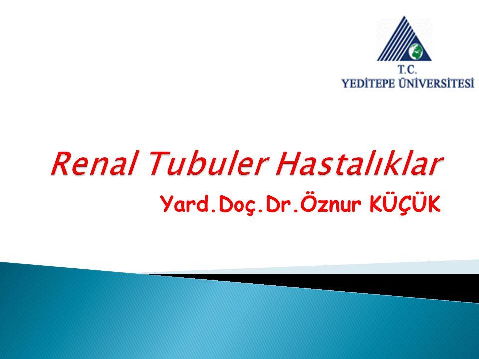  Renal Tubuler asidoz (RTA), idrar asidifikasyon bozukluğuna bağlı olarak gelişen ve hiperkloremik metabolik asidoz ile belirlenen bir klinik tablodur.
