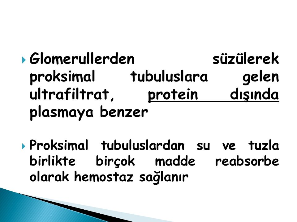  Tip I: Distal renal tubuler asidoz (Daha önce tip III denen form Tip I varyantıdır) Tip III (Tip I ve Tip II kombinasyonu)  Tip II: Proksimal renal tubuler asidoz  Tip IV: Mineralokortikoid eksikliği