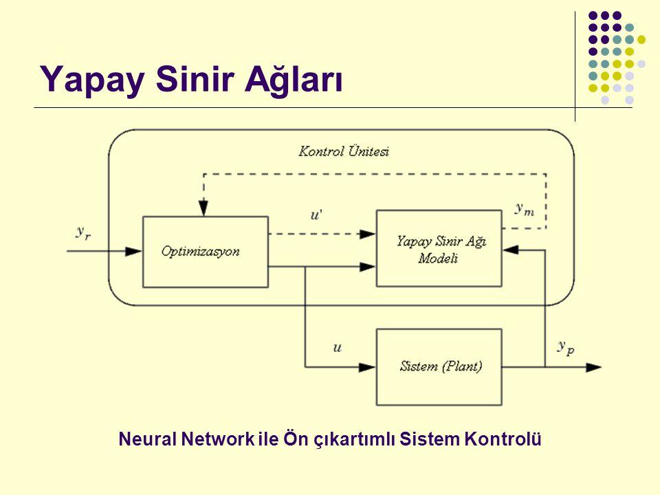 Yapay Sinir Ağları Neural Network ile Ön çıkartımlı Sistem Kontrolü