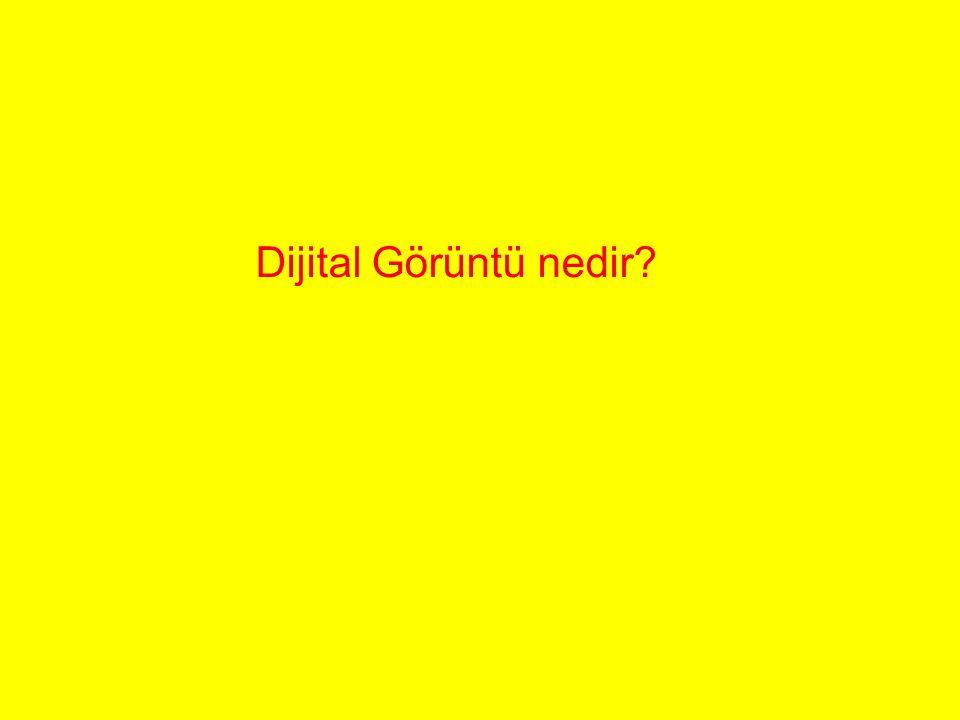 Dijital Görüntü nedir?