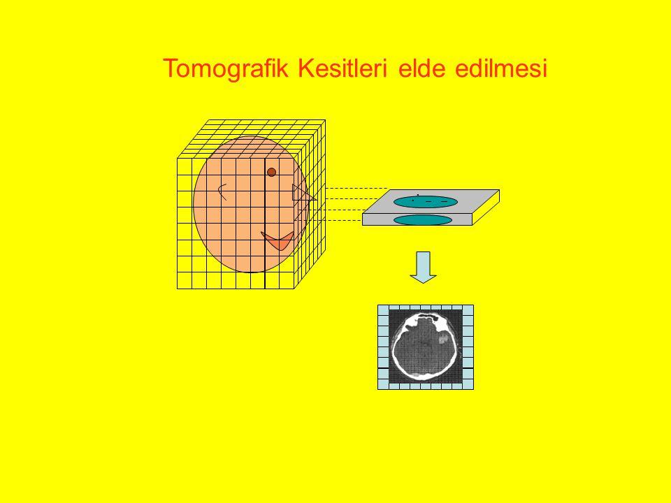 .. Tomografik Kesitleri elde edilmesi