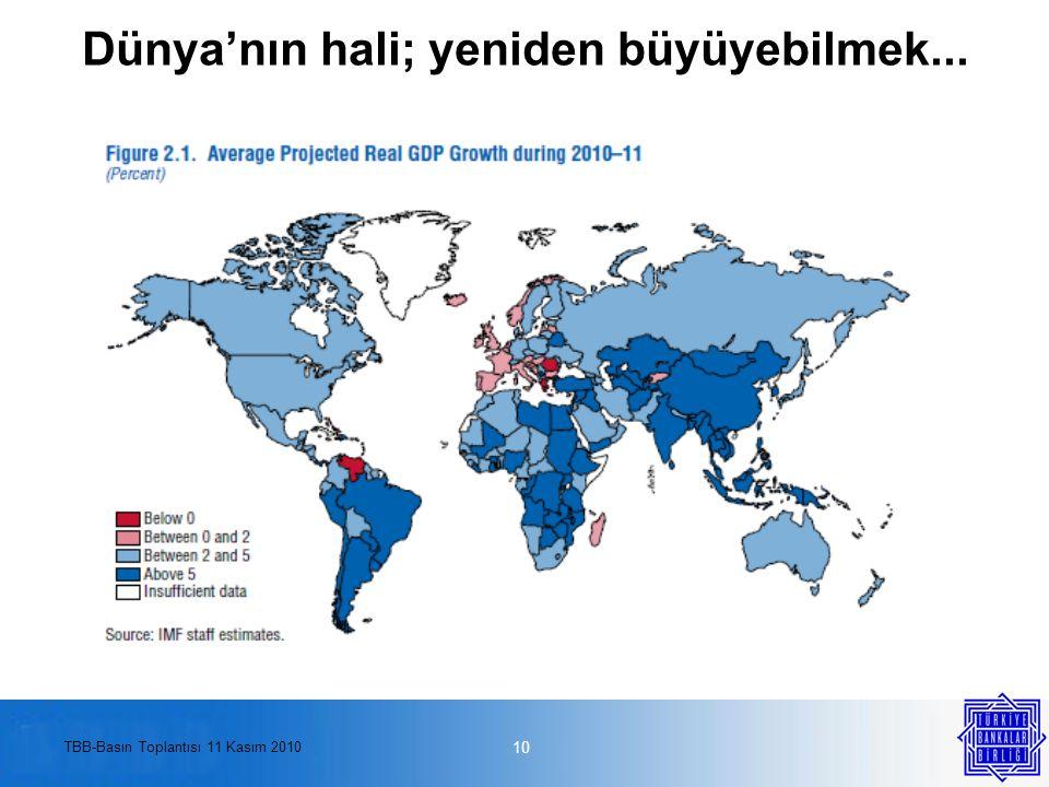 TBB-Basın Toplantısı 11 Kasım 2010 Dünya'nın hali; yeniden büyüyebilmek... 10
