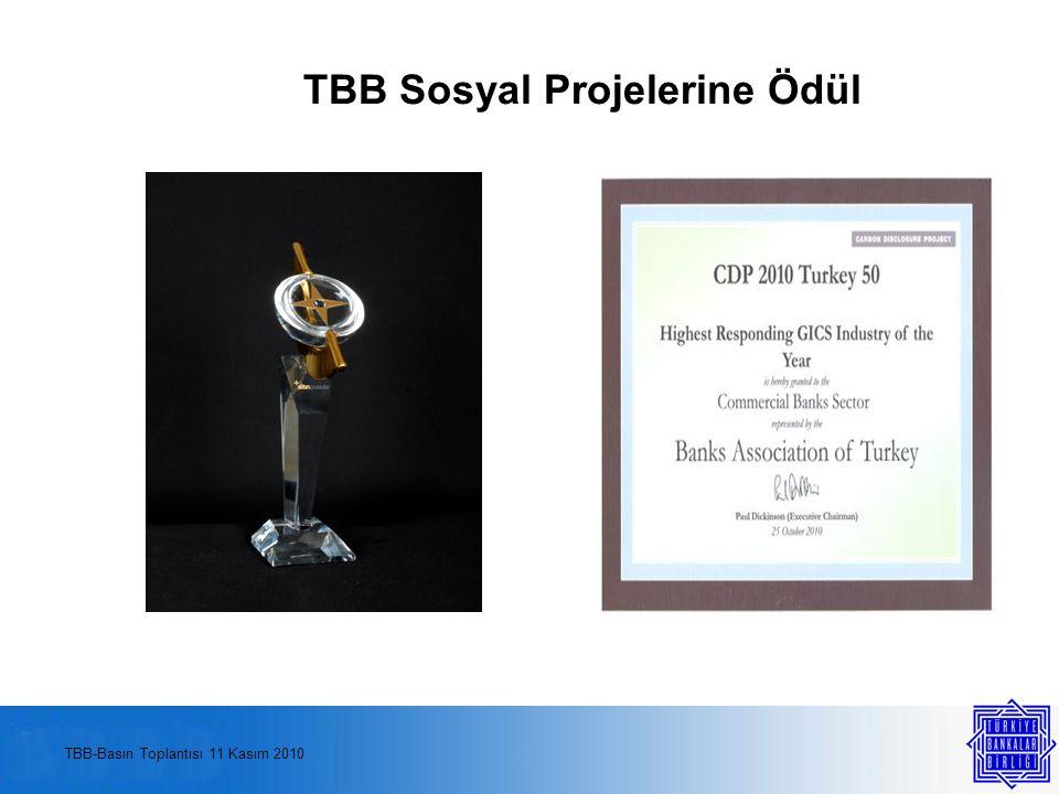 TBB Sosyal Projelerine Ödül TBB-Basın Toplantısı 11 Kasım 2010