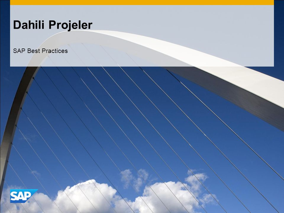 Dahili Projeler SAP Best Practices