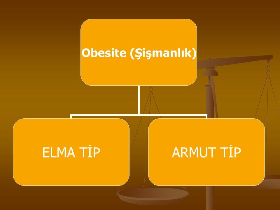 Obesite (Şişmanlık) ELMA TİPARMUT TİP