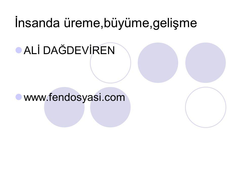 İnsanda üreme,büyüme,gelişme ALİ DAĞDEVİREN www.fendosyasi.com