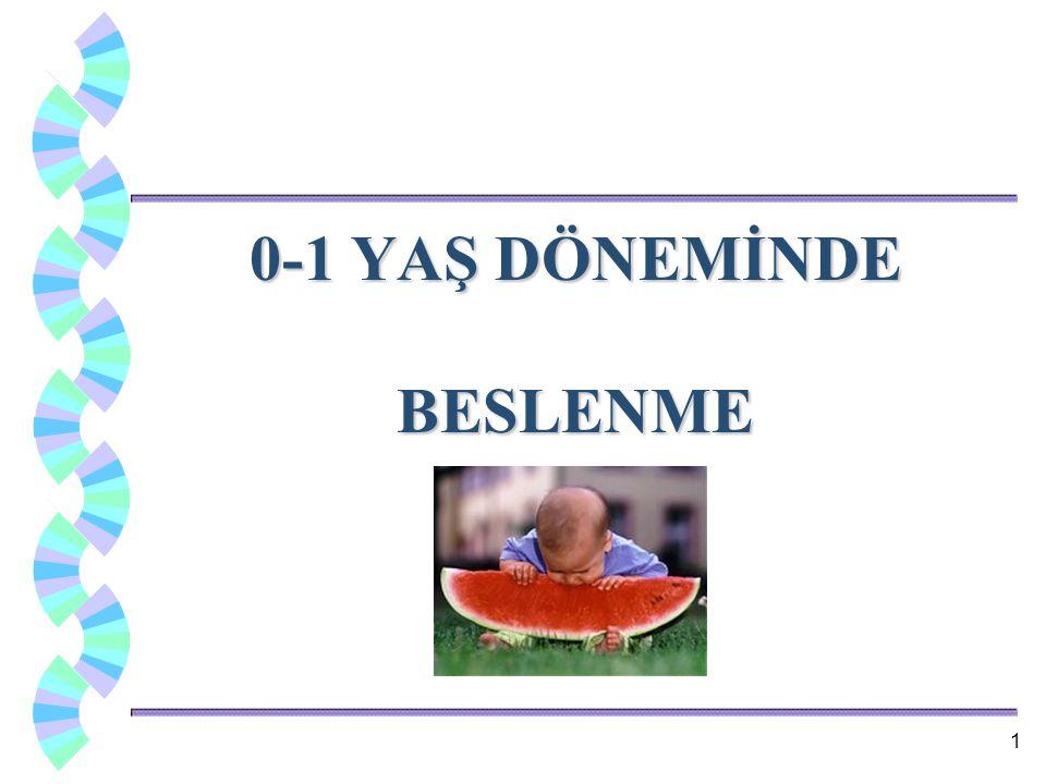 0-1 YAŞ DÖNEMİNDE BESLENME 1