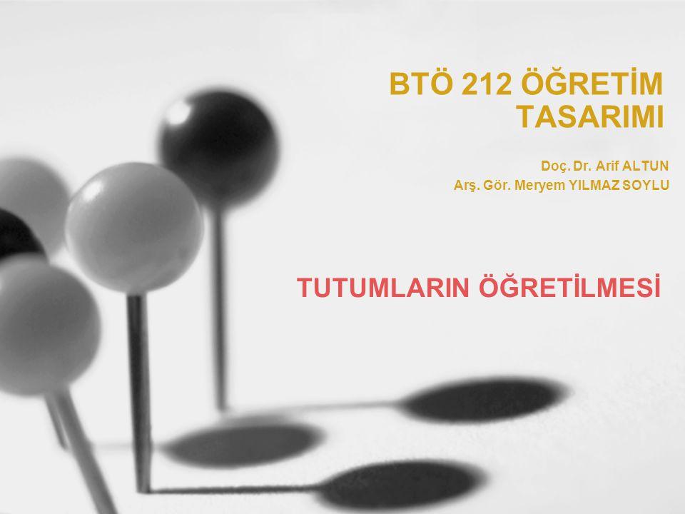 BTÖ 212 Öğretim Tasarımı / 2008 - 2009 Bahar12 Tutumla ilgili diğer değişkenler İlgi ve motivasyon tutumla ilgili diğer değişkenlerdir.